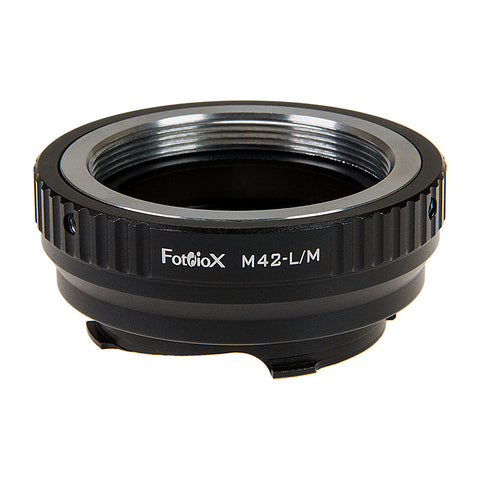 Fotodiox Lens Mount Adapter with Leica 6-Bit M-Coding - M42 Type 2 (42mm x1 Screw Mount) Lens to Leica M Mount Rangefinder Camera Body