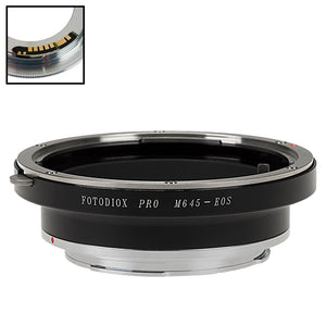 Fotodiox Pro Lens Mount Adapter Compatible with Mamiya 645 (M645) Mount Lenses to Canon EOS (EF, EF-S) Mount SLR Camera Body - with Generation v10 Focus Confirmation Chip