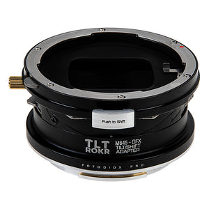 Fotodiox Pro TLT ROKR Lens Adapter - Compatible with Mamiya 645 (M645) Mount Lenses to Fujifilm G-Mount Digital Cameras with Built-In Tilt / Shift Movements