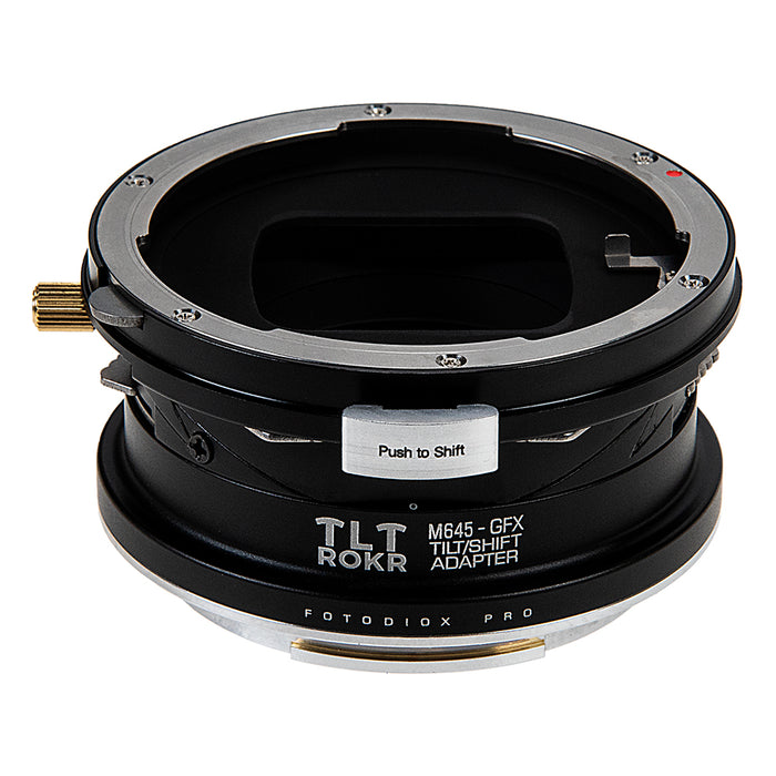 Fotodiox Pro TLT ROKR - Tilt / Shift Lens Mount Adapter Compatible with Mamiya 645 (M645) Mount Lenses to Fujifilm Fuji G-Mount GFX Mirrorless Camera Body