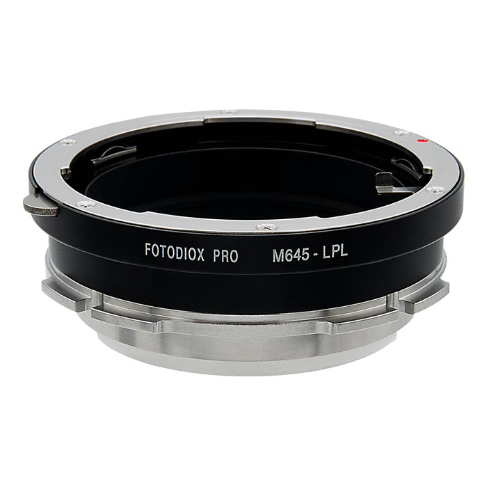 Fotodiox Pro Lens Mount Adapter - Compatible with Mamiya 645 (M645) Mount Lenses to Arri LPL (Large Positive Lock) Mount Cameras