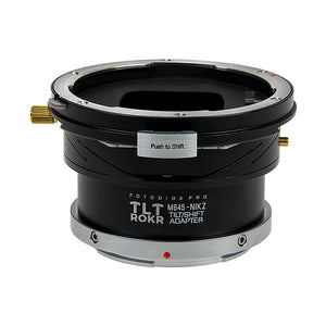 Fotodiox Pro TLT ROKR - Tilt / Shift Lens Mount Adapter Compatible with Mamiya 645 (M645) Mount Lenses to Nikon Z-Mount Mirrorless Camera Body