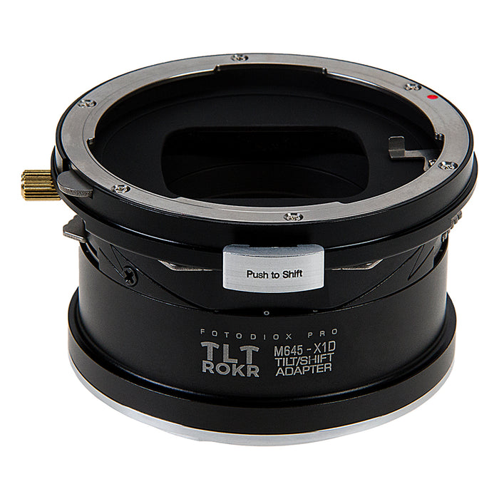 Fotodiox Pro TLT ROKR - Tilt / Shift Lens Mount Adapter Compatible with Mamiya 645 (M645) Mount Lenses to Hasselblad XCD Mount Mirrorless Digital Camera Systems