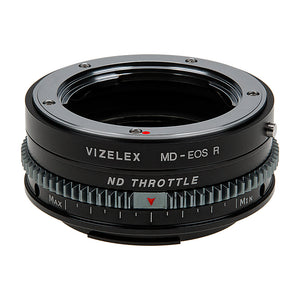 Vizelex Cine ND Throttle Lens Mount Adapter - Compatible with Minolta Rokkor (SR / MD / MC) SLR Lenses to Canon RF Mount Mirrorless Cameras with Built-In Variable ND Filter (1 to 8 Stops) from Fotodiox Pro