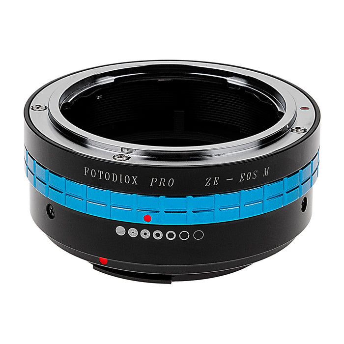 Fotodiox Pro Lens Mount Adapter - Mamiya 35mm (ZE) SLR Lens to Canon EOS M (EF-M Mount) Mirrorless Camera Body with Built-In Aperture Control Dial