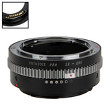 Fotodiox Pro Lens Mount Adapter Compatible with Mamiya 35mm (ZE) SLR Lens to Canon EOS (EF, EF-S) Mount SLR Camera Body - with Generation v10 Focus Confirmation Chip and Built-In Aperture Control Dial