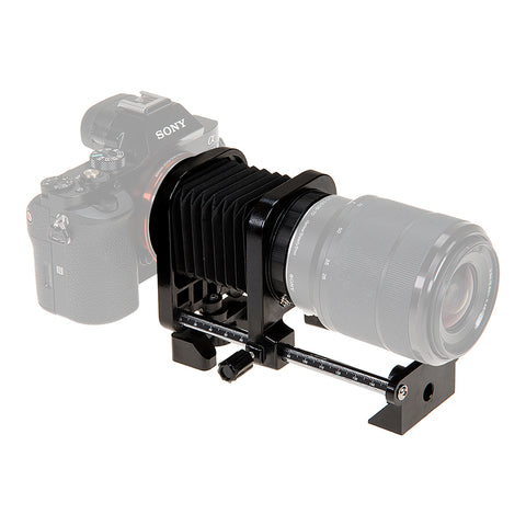 Fotodiox Macro Bellows for Sony Alpha E-Mount (NEX) MILC Camera System for Extreme Close-up Photography **Back In Stock January 31st-February 9th 2019**