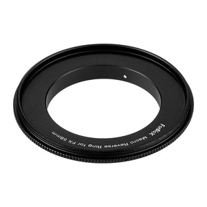 Macro Reverse Ring for Fuji - Camera Mount to Filter Thread Adapter for Fujifilm Fuji X-Series Camera Mounts