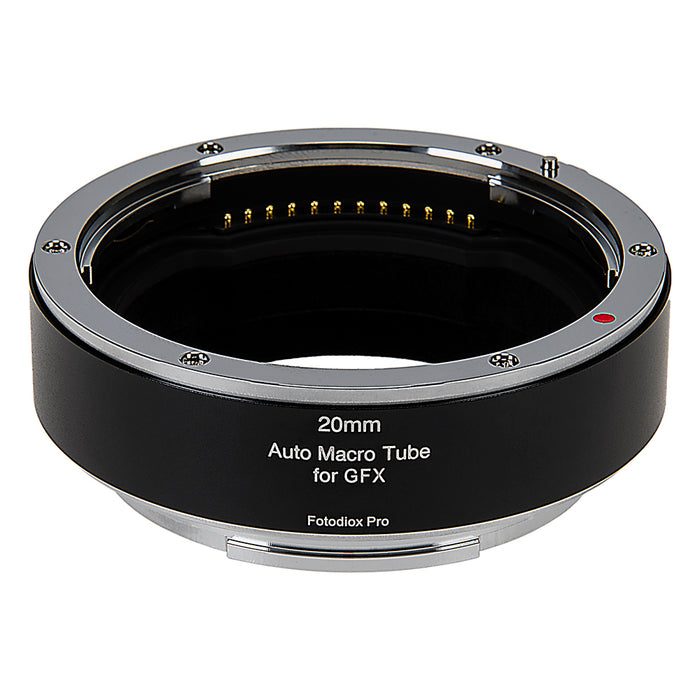 Fotodiox Pro Automatic Macro Extension Tube, 20mm Section - for Fujifilm Fuji G-Mount GFX Mirrorless Cameras for Extreme Close-up Photography