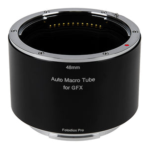 Fotodiox Pro Automatic Macro Extension Tube, 48mm Section - for Fujifilm Fuji G-Mount GFX Mirrorless Cameras for Extreme Close-up Photography