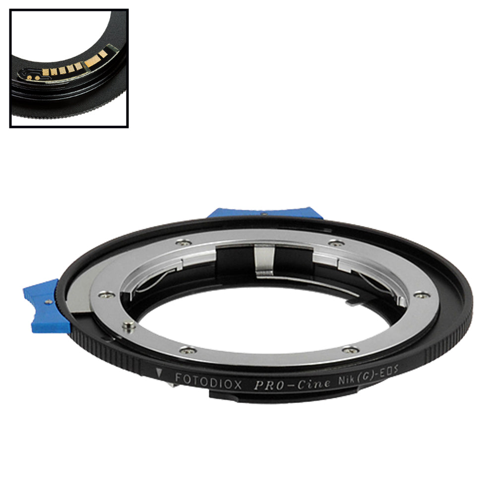 Fotodiox Pro Lens Mount Adapter Compatible with Nikon Nikkor F Mount G-Type D/SLR Lens to Canon EOS (EF, EF-S) Mount SLR Camera Body - with Generation v10 Focus Confirmation Chip and Built-In Aperture Control Dial