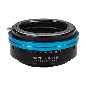 Fotodiox Pro Lens Mount Adapter Compatible with Nikon Nikkor F Mount G-Type D/SLR Lenses to Canon RF (EOS-R) Mount Mirrorless Camera Bodies