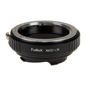 Fotodiox Lens Mount Adapter with Leica 6-Bit M-Coding - Nikon Nikkor F Mount G-Type D/SLR Lens to Leica M Mount Rangefinder Camera Body with Built-In Aperture Control Dial