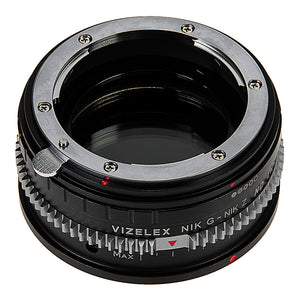 Vizelex Cine ND Throttle Lens Mount Adapter Compatible with Nikon Nikkor F Mount G-Type D/SLR Lens to Nikon Z-Mount Mirrorless Camera Body with Built-In Variable ND Filter (1 to 8 Stops)