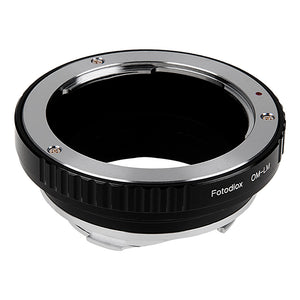 Fotodiox Lens Adapter - Compatible with Olympus Zuiko (OM) 35mm SLR Lenses to Leica M Mount Rangefinder Cameras