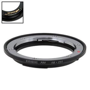 Fotodiox Pro Lens Mount Adapter Compatible with Olympus Zuiko (OM) 35mm SLR Lens to Canon EOS (EF, EF-S) Mount SLR Camera Body - with Generation v10 Focus Confirmation Chip