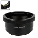 Fotodiox Lens Mount Adapter Compatible with Pentacon 6 (Kiev 66) SLR Lens to Canon EOS (EF, EF-S) Mount SLR Camera Body - with Generation v10 Focus Confirmation Chip