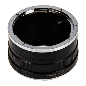 Fotodiox DLX Stretch Lens Mount Adapter - Pentax 645 (P645) Mount SLR Lens to Fujifilm Fuji G-Mount GFX Mirrorless Camera Body with Macro Focusing Helicoid