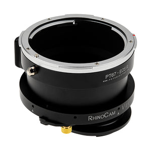 RhinoCam Vertex Rotating Stitching Adapter, Compatible with Pentax 6x7 (P67) Mount SLR Lens to Canon RF Mount Mirrorless Cameras