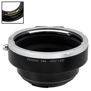 Fotodiox Pro Lens Mount Adapter Compatible with Pentax 6x7 (P67, PK67) Mount SLR Lens to Canon EOS (EF, EF-S) Mount SLR Camera Body - with Generation v10 Focus Confirmation Chip