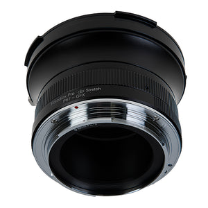 Fotodiox DLX Stretch Lens Mount Adapter - Pentax 6x7 (P67, PK67) Mount SLR Lens to Fujifilm Fuji G-Mount GFX Mirrorless Camera Body with Macro Focusing Helicoid