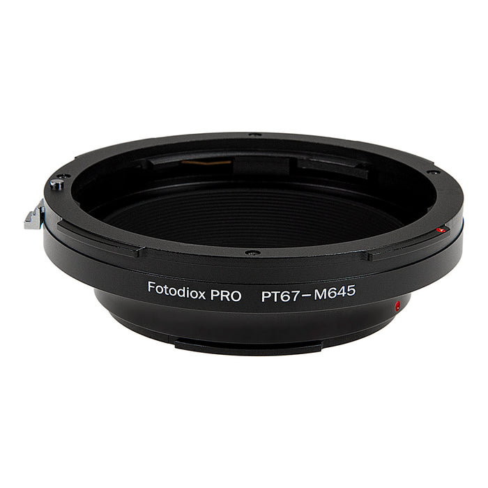 Fotodiox Pro Lens Adapter - Compatible with Pentax 6x7 (P67, PK67) Mount SLR Lenses to Mamiya 645 (M645) Mount Cameras