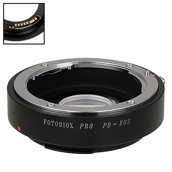 Fotodiox Pro Lens Mount Adapter Compatible with Praktica B (PB) SLR Lens to Canon EOS (EF, EF-S) Mount SLR Camera Body - with Generation v10 Focus Confirmation Chip
