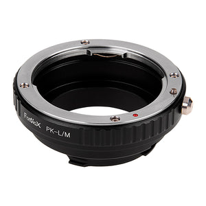 Fotodiox Lens Adapter with Leica 6-Bit M-Coding - Compatible with Pentax K Mount (PK) SLR Lenses to Leica M Mount Rangefinder Cameras