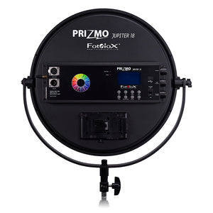 Fotodiox Pro Prizmo Jupiter18 PZM-700 RGBW+T LED Light - Multi Color, Dimmable, Professional Photo/Video LED Studio Light with Special Effects Settings