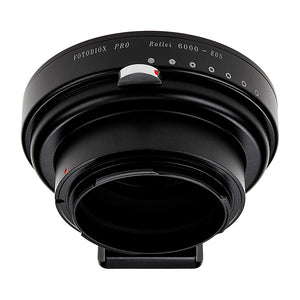 Fotodiox Pro Lens Mount Adapter - Rollei 6000 (Rolleiflex) Series Lenses to Canon EOS (EF, EF-S) Mount SLR Camera Body with Built-In Aperture Iris