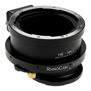 RhinoCam Vertex Rotating Stitching Adapter, Compatible with Hasselblad V-Mount SLR Lens to Nikon Z-Mount Mirrorless Cameras