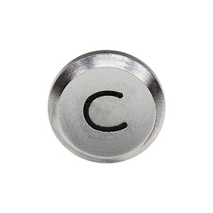 Fotodiox Soft Shutter Release Button - Anodized Aluminum 12mm Concave Button for Contax & Canon Cameras (Silver & Black)