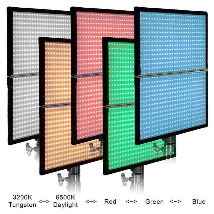 SkyFiller Wings Prizmo Edition LED Lighting SFW-150SSRGB - 2x2 150w RGBW+T Folding LED Panel Lighting from Fotodiox