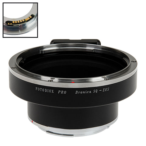 Fotodiox Pro Lens Mount Adapter Compatible with Bronica SQ Mount Lens to Canon EOS (EF, EF-S) Mount SLR Camera Body - with Generation v10 Focus Confirmation Chip