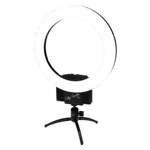 Fotodiox Selfie Starlite Mini Vlog Light w/ Tabletop Tripod - 12in Bi-Color Dimmable LED Ring Light for Portrait, Photography, Makeup, YouTube, Live Streaming Video and more