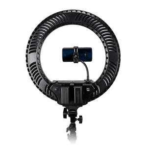 Fotodiox Selfie Starlite Prizmo Edition Vlog Light - 18in RGB Dimmable LED Ring Light for Portrait, Photography, Makeup, YouTube, Live Streaming Video and more