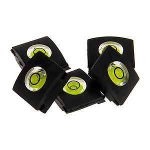 Fotodiox 5x Single-Axis Bubble Spirit Levels, Set of Five Slim Hot Shoe Covers