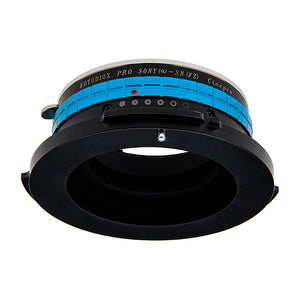 Fotodiox Pro Lens Adapter - Compatible with Sony Alpha A-Mount (and Minolta AF) DSLR Lenses to Sony CineAlta FZ-Mount Cameras with Built-In Aperture Control Dial