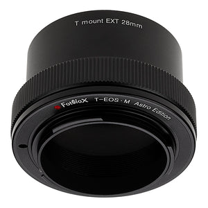Fotodiox Lens Adapter Astro Edition - Compatible with T-Mount (T / T-2) Screw Mount Telescopes to Canon EOS M (EF-M) Mount Cameras for Astronomy