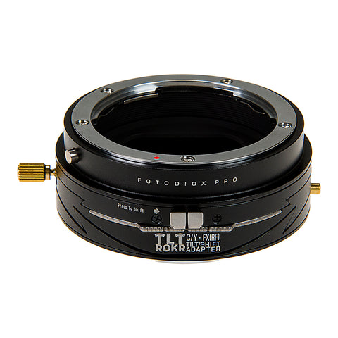 Fotodiox Pro TLT ROKR - Tilt / Shift Lens Mount Adapter for Contax/Yashica (CY) SLR Lenses to Fujifilm Fuji X-Series Mirrorless Camera Body