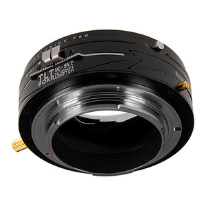 Fotodiox Pro TLT ROKR - Tilt / Shift Lens Mount Adapter Compatible with Minolta Rokkor (SR / MD / MC) SLR Lenses to Sony Alpha E-Mount Mirrorless Camera Body