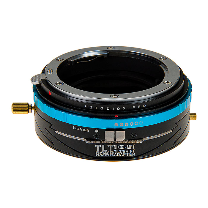 Fotodiox Pro TLT ROKR - Tilt / Shift Lens Mount Adapter for Nikon Nikkor F Mount G-Type D/SLR Lenses to Micro Four Thirds (MFT, M4/3) Mount Mirrorless Camera Body