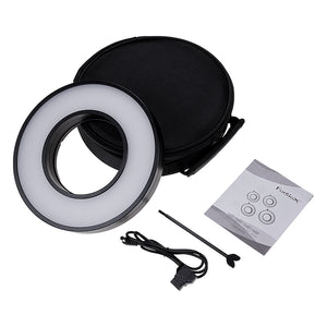 Fotodiox Pro FACTOR Ring - Ring Light Module Kits for Videographers; Lens Attached Ringlights w/ D-Tap Power Cable