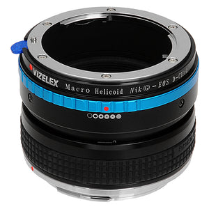 Vizelex Macro Focusing Helicoid - Nikon F Mount G-Type D/SLR Lens to Canon EOS DSLR Camera Body