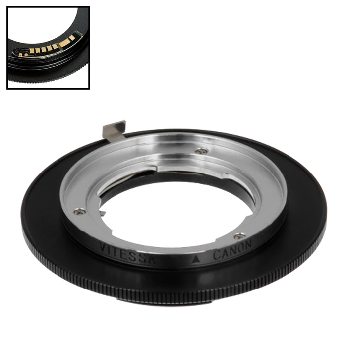 Fotodiox Pro Lens Mount Adapter Compatible with Voigtlander Vitessa Lens to Canon EOS (EF, EF-S) Mount SLR Camera Body - with Generation v10 Focus Confirmation Chip