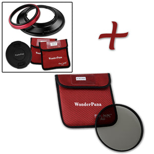 WonderPana Filter Holder for Olympus 7-14mm f/4.0 Zuiko ED Zoom Lens (OM-4/3 Format) - Ultra Wide Angle Lens Filter Adapter