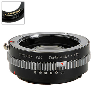 Fotodiox Pro Lens Mount Adapter Compatible with Yashica 230 AF SLR Lens to Canon EOS (EF, EF-S) Mount SLR Camera Body - with Generation v10 Focus Confirmation Chip and Built-In Aperture Control Dial