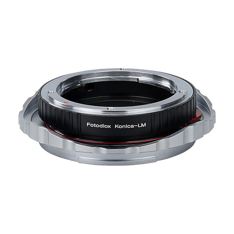 Fotodiox Pro Lens Mount Double Adapter, Konica Auto-Reflex (AR) SLR and Leica M Rangefinder Lenses to Fujifilm G-Mount GFX Mirrorless Digital Camera Systems (such as GFX 50S and more)