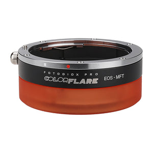ArtFX ColorFlare Adapter for Canon EOS (EF / EF-S) D/SLR Lens to Micro Four Thirds (MFT, M4/3) Mount Mirrorless Camera Body - Light Leak / Flare Inducing Adapter from Fotodiox Pro **Clearance**