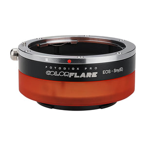 ArtFX ColorFlare Adapter for Canon EOS (EF / EF-S) D/SLR Lens to Sony Alpha E-Mount Mirrorless Camera Body - Light Leak / Flare Inducing Adapter from Fotodiox Pro **Clearance**
